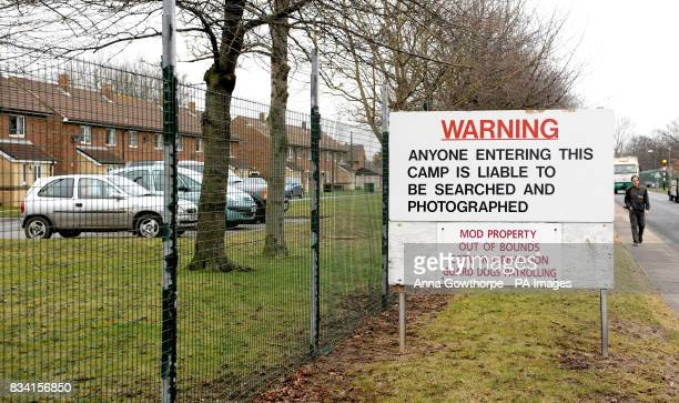 A general view of Alanbrooke Army Barracks near Thirsk after a 10yearold girl was bitten in the face by a Staffordshire bull terrier