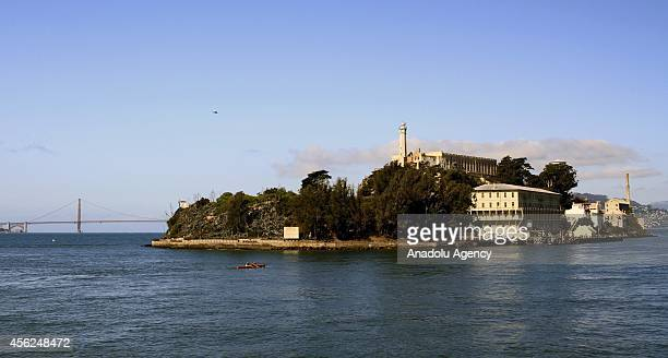A general view of Alcatraz island hosting the Chinese artist Ai WeiWei's installations that are part of @Large Ai WeiWei exhibit on September 27 2014...