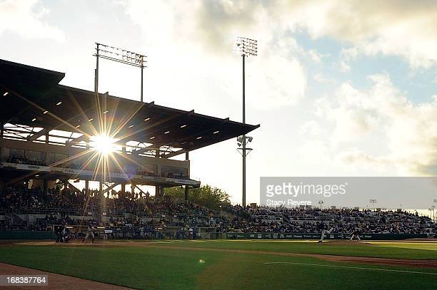 General view of Alex Box Stadium during a game between the LSU Tigers and the Florida Gators on May 3 2013 in Baton Rouge Louisiana