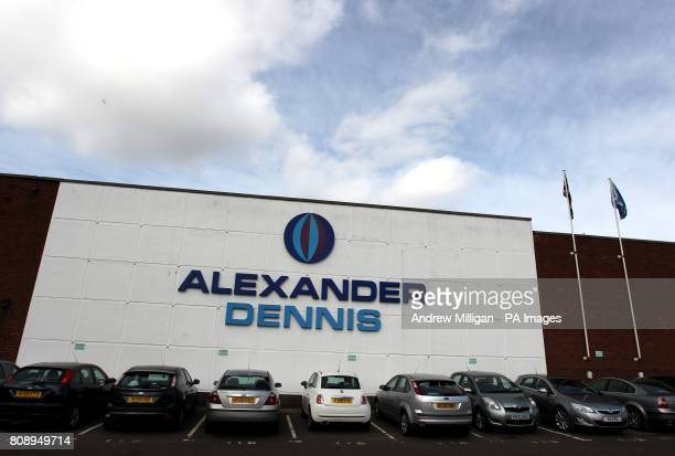 A general view of Alexander Dennis bus builders in Falkirk