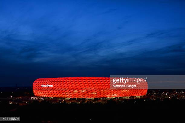 General view of Allianz Arena after the Bundesliga match between FC Bayern Muenchen and 1 FC Koeln at Allianz Arena on October 24 2015 in Munich...