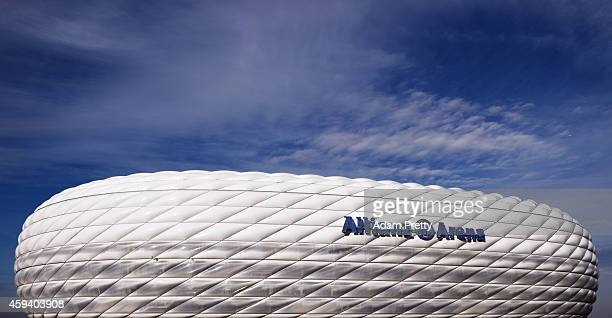 A general view of Allianz Arena before the Bundesliga match between FC Bayern Muenchen and 1899 Hoffenheim at Allianz Arena on November 22 2014 in...
