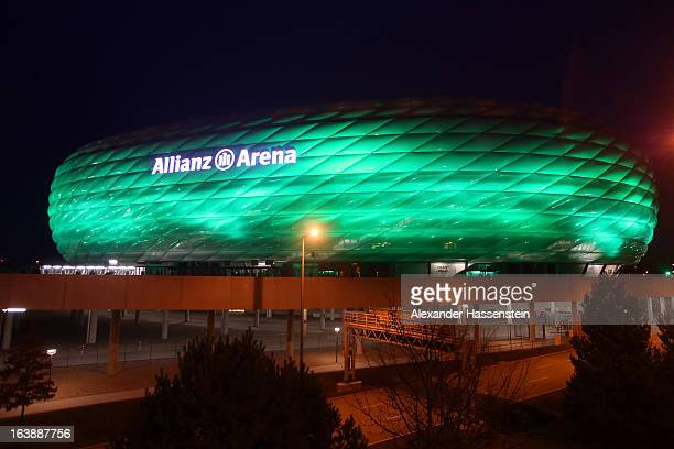 General view of Allianz Arena on March 17 2013 in Munich Germany