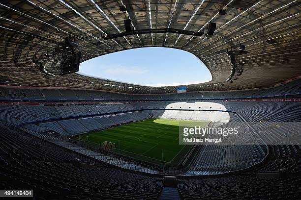 General view of Allianz Arena prior to the Bundesliga match between FC Bayern Muenchen and 1 FC Koeln at Allianz Arena on October 24 2015 in Munich...
