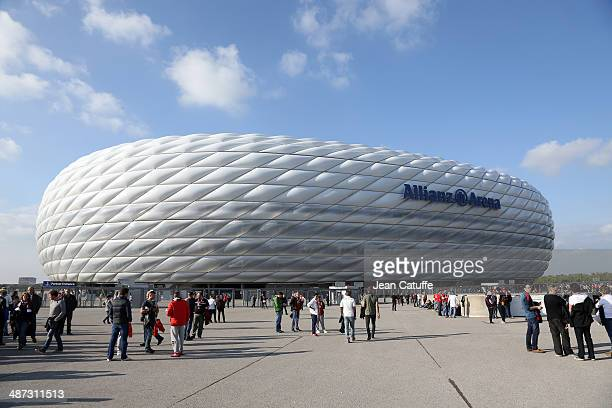 General view of Allianz Arena prior to the UEFA Champions League semifinal second leg match between FC Bayern Muenchen and Real Madrid CF at Allianz...