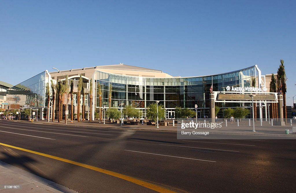 General view of America West Arena prior to the WNBA game between the Minnesota Lynx and the Phoenix Mercury played on June 22 2004 at America West...