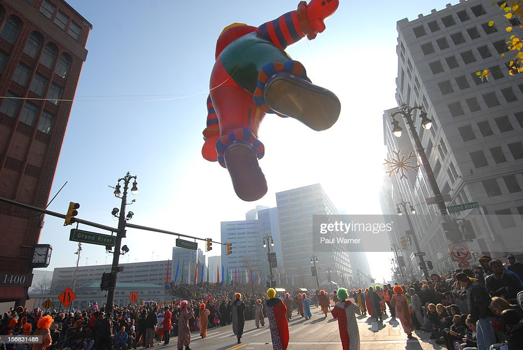 General view of America's Thanksgiving Day Parade at Woodward Avenue on November 22, 2012 in Detroit, Michigan.