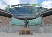 A general view of TD Ameritrade Park before game one of the College World Series Championship between the Virginia Cavaliers and the Vanderbilt...