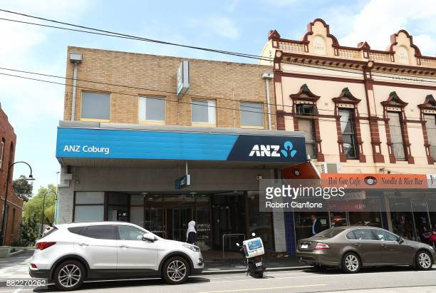A general view of an ANZ Bank branch on November 30 2017 in Melbourne Australia Prime Minister Malcolm Turnbull today announced that the federal...