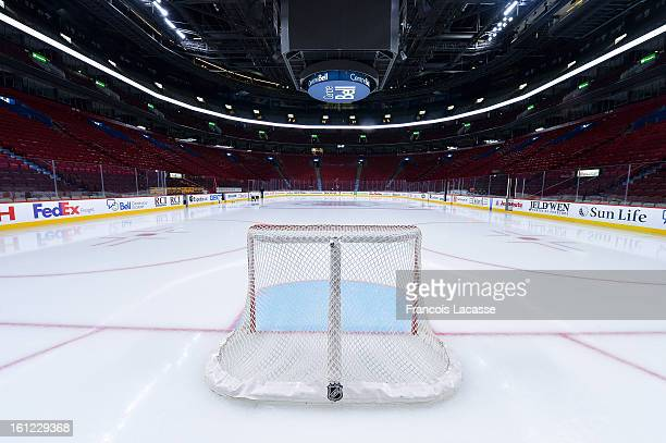General view of an empty Bell Centre awaits the start of the NHL game between the Montreal Canadiens and the Toronto Maple Leafs on February 9 2013...