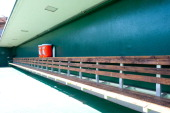 A general view of an empty dugout before a spring training game between the Chicago Cubs and the Oakland Athletics at HoHoKam Stadium on March 4 2012...