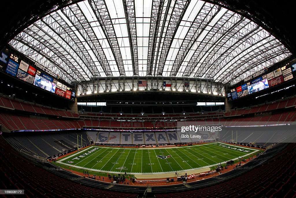 A general view of an empty stadium prior to the Houston Texans hosting the Cincinnati Bengals during their AFC Wild Card Playoff Game at Reliant Stadium on January 5, 2013 in Houston, Texas.