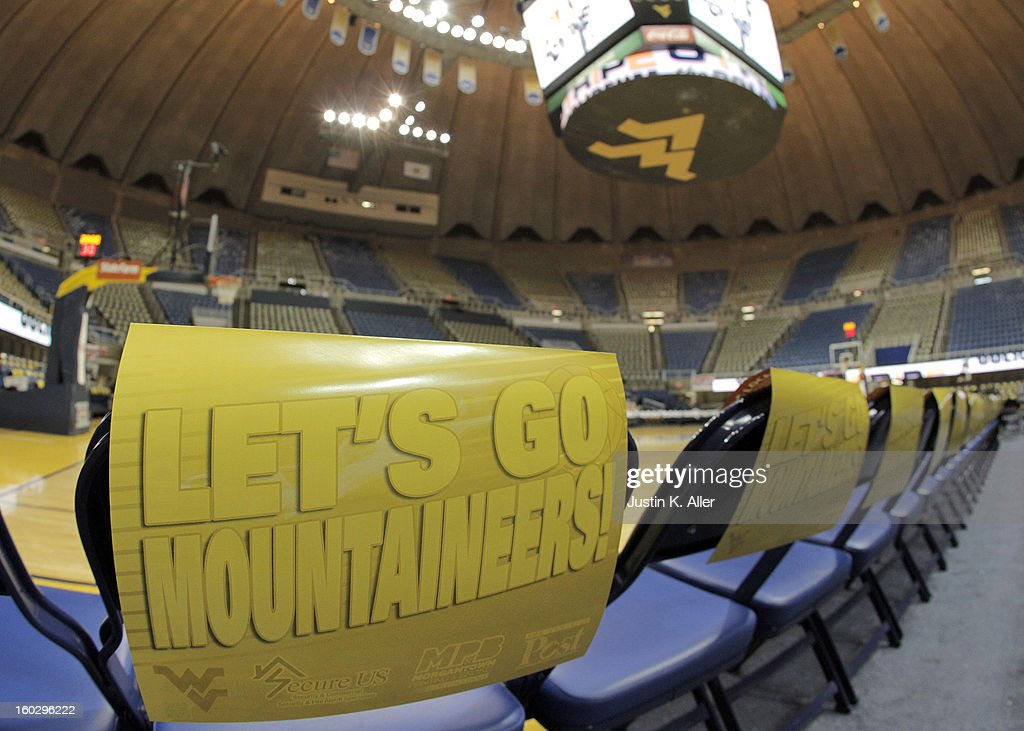 A general view of an empty WVU Coliseum before the game between Kansas and West Virginia at the WVU Coliseum on January 28, 2013 in Morgantown, West Virginia.