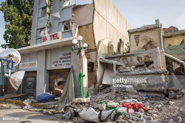 A general view of an historical reconstitution from one of hundreds location where the 1985 deadly Mexico Earthquake reached a magnitude 81 in the...