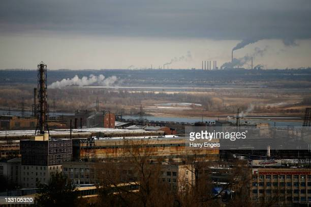 A general view of an industrial area of the city on November 16 2011 in Volgograd Russia Volgograd is one of thirteen proposed host cities as Russia...