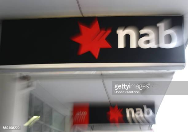 A general view of an NAB branch on Sydney Road Coburg on November 2 2017 in Melbourne Australia National Australia Bank plans to cut 6000 jobs almost...