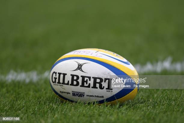 General view of an official Gilbert Premiership Rugby Matchball