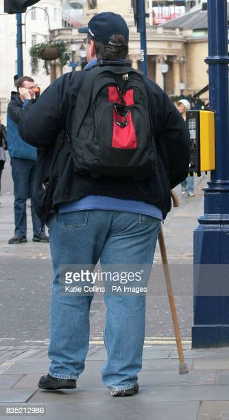 A general view of an overweight man in central London