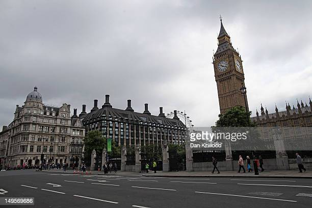 A general view of an unusually quiet Parliament Square on July 31 2012 in London England Overall visitor numbers to London have reportedly declined...