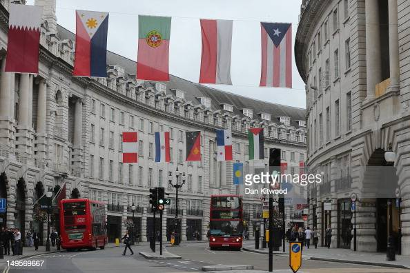 A general view of an unusually quiet Regent Street on July 31 2012 in London England Overall visitor numbers to London have reportedly declined...