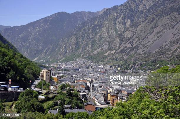 A general view of AndorreLaVella the capital of the Principality of Andorra in the east Pyrenees between France and Spain seen on May 12 2015 AFP...