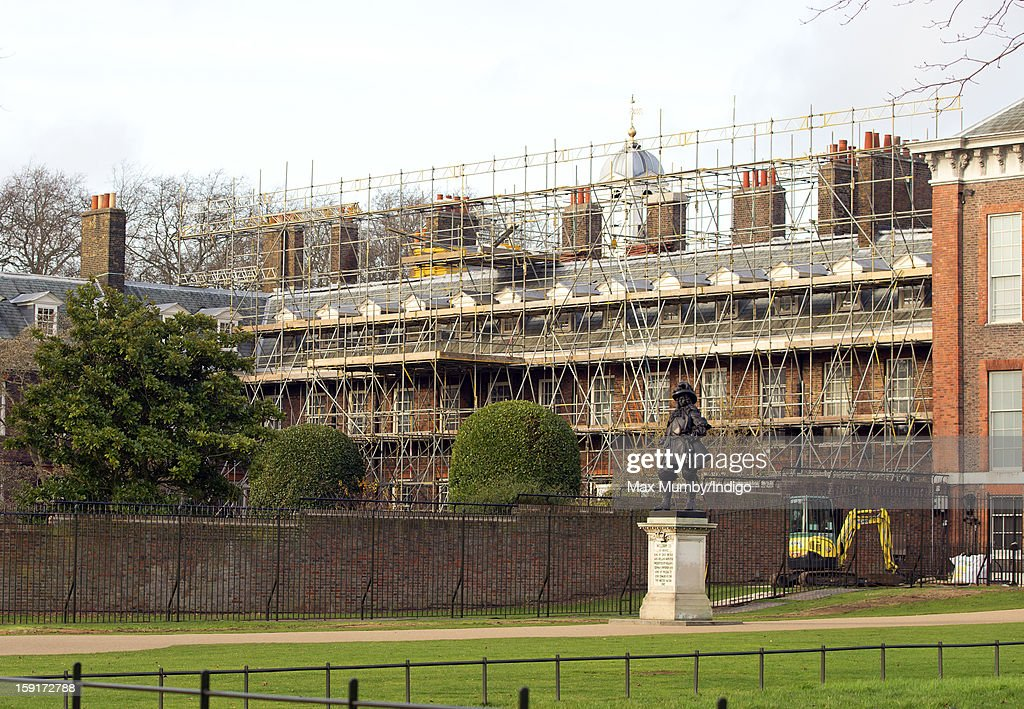 A general view of Apartment 1A at Kensington Palace which is covered in scaffolding whilst refurbishment works are being carried out on January 08, 2013 in London, England. Prince William, Duke of Cambridge and Catherine, Duchess of Cambridge are scheduled to take up residence in apartment 1A of the Palace in 2013.
