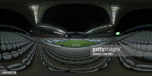A general view of Arena de Sao Paulo stadium ahead of the 2014 FIFA World Cup Brazil opening match between Brazil and Croatia on June 11 2014 in Sao...