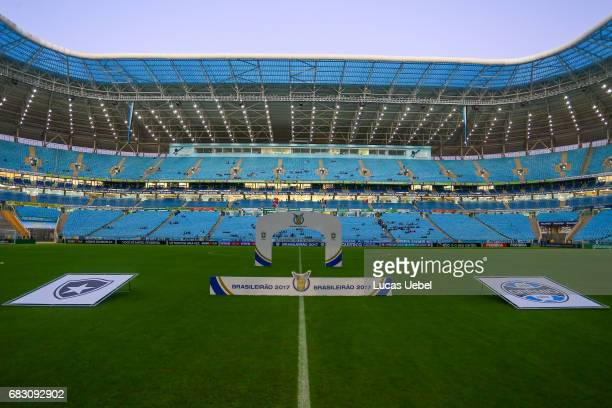 General view of Arena do Gremio before the match Gremio v Botafogo as part of Brasileirao Series A 2017 at Arena do Gremio on May 14 in Porto Alegre...