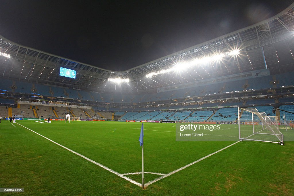 General view of Arena do Gremio before the match Gremio v Santos as part of Brasileirao Series A 2016, at Arena do Gremio on June 03, 2015 in Porto Alegre, Brazil.