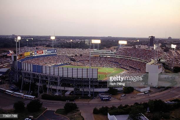 General view of Arlington Stadium on Nolan Ryan Day during a Texas Ranger game in 1993 in Arlington Texas