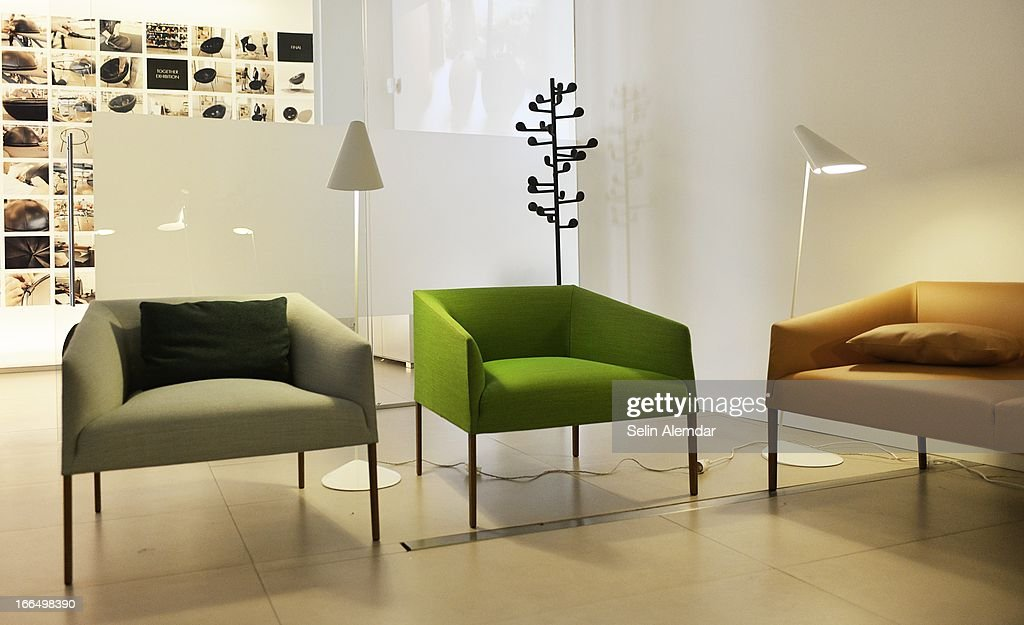 A general view of Arper at Porta Venezia as part of 2013 Milan Design Week on April 13, 2013 in Milan, Italy.