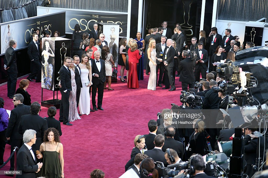A general view of arrivals at the Oscars held at Hollywood & Highland Center on February 24, 2013 in Hollywood, California.