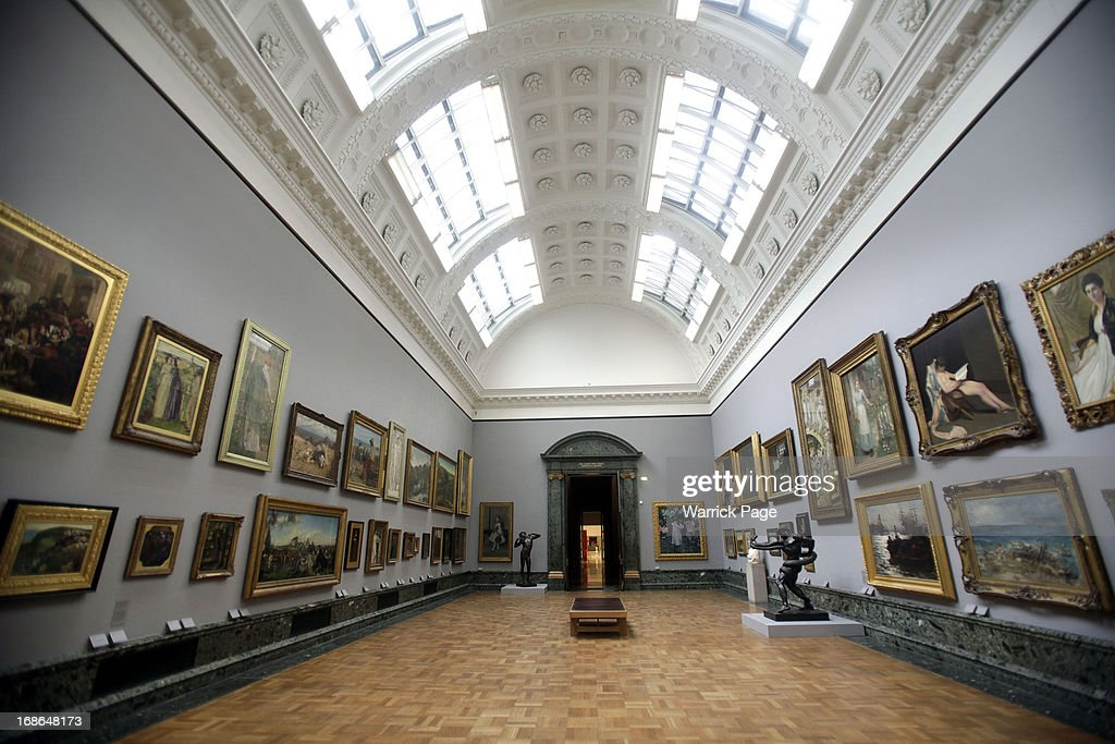 A general view of artwork on display at the Walk through British Art exhibition at Tate Britain on May 13, 2013 in London, England. Visitors will experience a completely new presentation of the world's greatest collection of British art, the national collection of British art will be displayed in a continuous and purely chronological display from the 1500s to the present day.