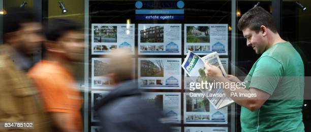 General view of AS Ireland Estate Agents and Solicitors on Waterloo Street in Glasgow after the Chancellor announced that homes worth 175000 or less...
