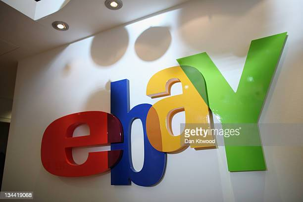 A general view of as sign in the new Ebay store on December 1 2011 in central London England Ebay have launched the first ever quick response code...