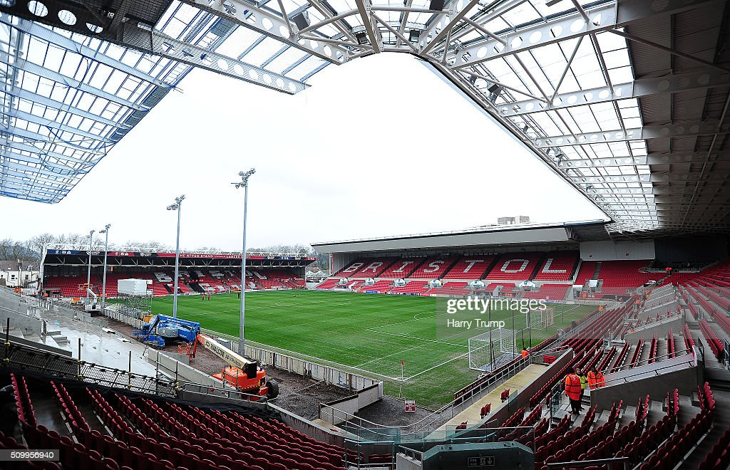 General view of Ashton Gate prior to kick off during the Sky Bet Championship match between Bristol City and Ipswich Town at Ashton Gate on February 13, 2016 in Bristol, England.