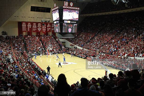 General view of Assembly Hall site of the Kentucky Wildcats game against the Indiana Hoosiers on December 10 2011 in Bloomington Indiana