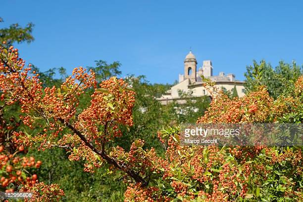 A general view of Assisi on October 3 2013 in Italy Pope Francis is due to venerate the tomb of San Francesco of Assisi at the crypt of the Upper...