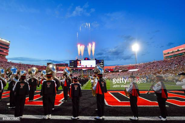 General view of AT T Stadium during the National Anthem before the game between the Texas Tech Red Raiders and the Arizona State Sun Devils on...