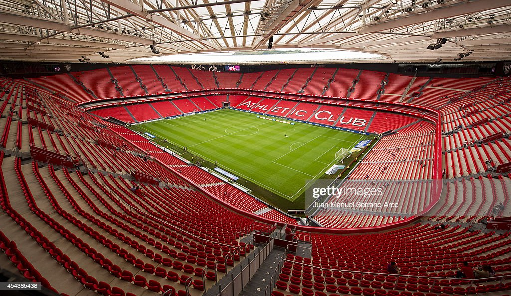 General view of Athletic Club Bilbao San Mames Stadium before the La Liga match between Athletic Club and Levante UD at San Mames Stadium on August...