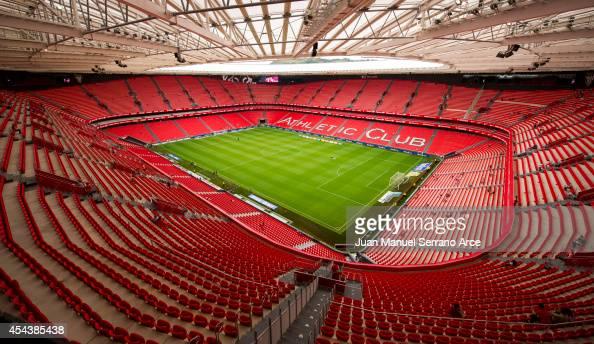 General view of Athletic Club Bilbao San Mames Stadium before the La Liga match between Athletic Club and Levante UD at San Mames Stadium on August...