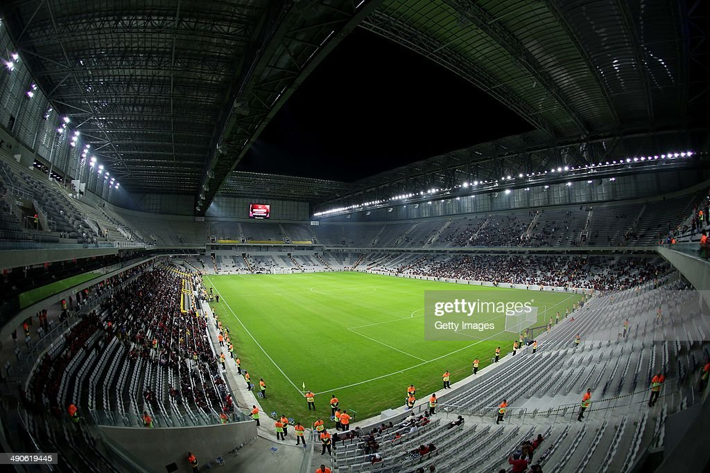 General view of Atletico-PR during the Friendly match between Atletico-PR and Corinthians for the Test Event FIFA at Arena da Baixada stadium on May 14, 2014 in Curitiba, Brazil.