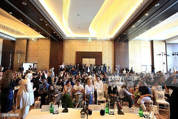 A general view of atmopshere at a press conference during the Vogue Fashion Dubai Experience on October 30 2014 in Dubai United Arab Emirates