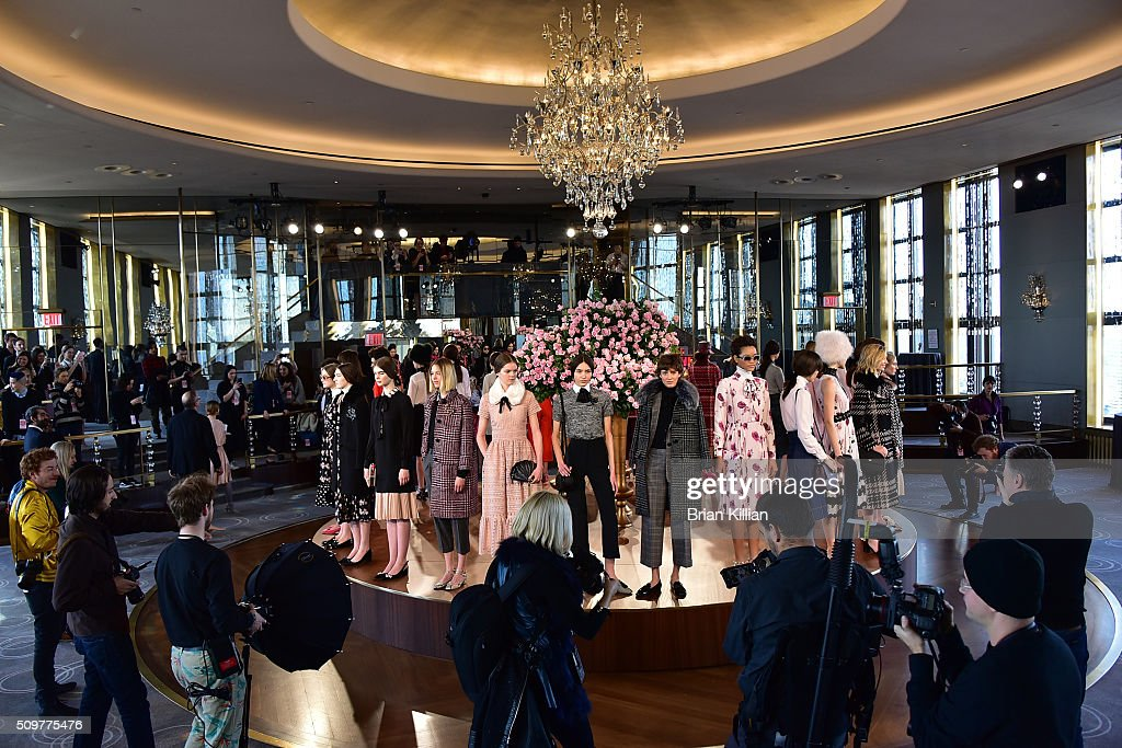 A general view of atmopsphere during the Kate Spade New York - Presentation - Fall 2016 show during New York Fashion Week at The Rainbow Room on February 12, 2016 in New York City.
