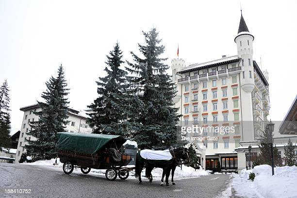 A general view of atmosphere after The Gstaad Palace Hotel ASMALLWORLD lunch on December 15 2012 in Gstaad Switzerland