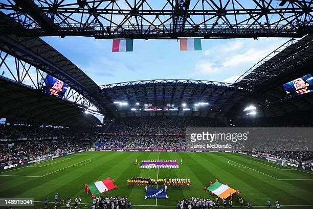 A general view of atmosphere ahead of the UEFA EURO 2012 group C match between Italy and Ireland at The Municipal Stadium on June 18 2012 in Poznan...