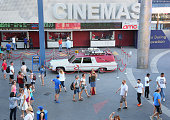 General view of atmosphere and the 'Ghostbusters' Cadillac Fleetwood Station Wagon at AMC Universal City Walk on July 14 2016 in Universal City...