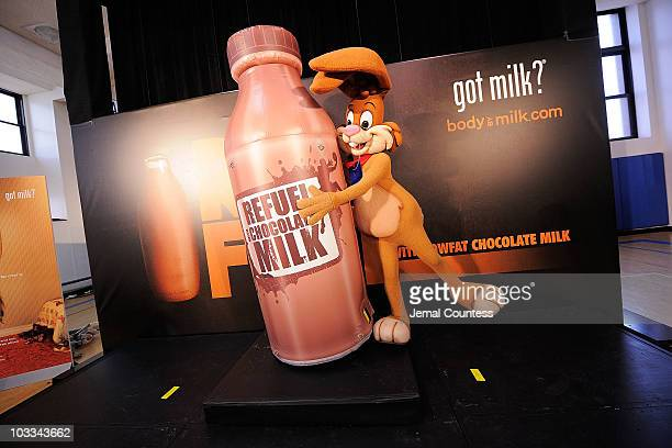 A general view of atmosphere ar the launch of the Refuel America Program and unveiling of the newest Milk Mustache ads at the 92nd Street Y on August...