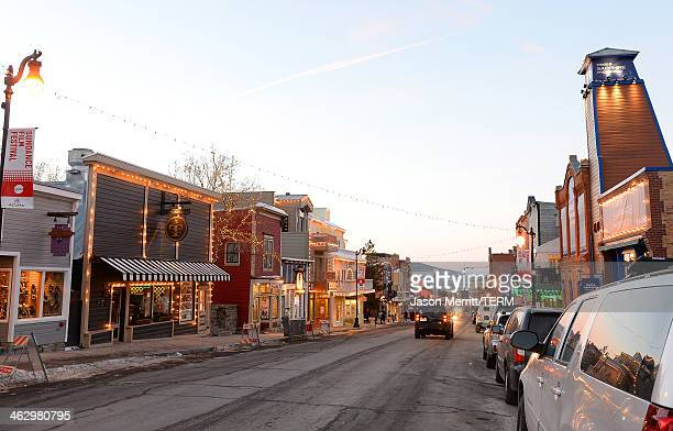 A general view of atmosphere around town as Park City prepares for The Sundance Film Festival on January 15 2014 in Park City Utah