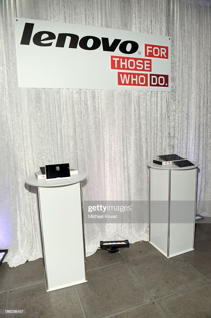 A general view of atmosphere as actor Ashton Kutcher named Lenovo product engineer and launches Yoga Tablet at YouTube Space LA on October 29 2013 in...